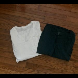 V-Neck Long Sleeve Maternity Shirts